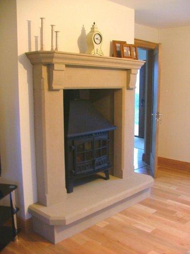 Sandstone Fireplace
