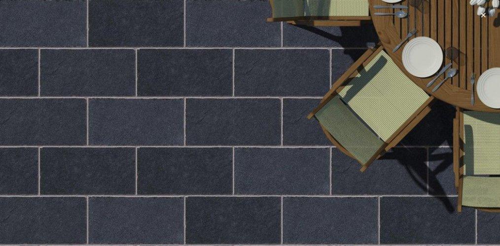 Black Limestone Paving; 600 x 300 x 20 -30mm