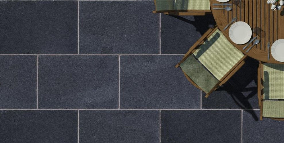 Black Limestone Paving; 900 x 600 x 20 -30mm