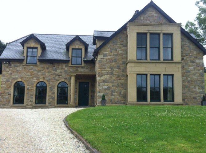 New build completed using Blue Grey Sandstone and Mountcharles Sandstone.