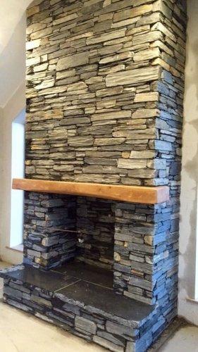 Blue Grey Slate Fireplace