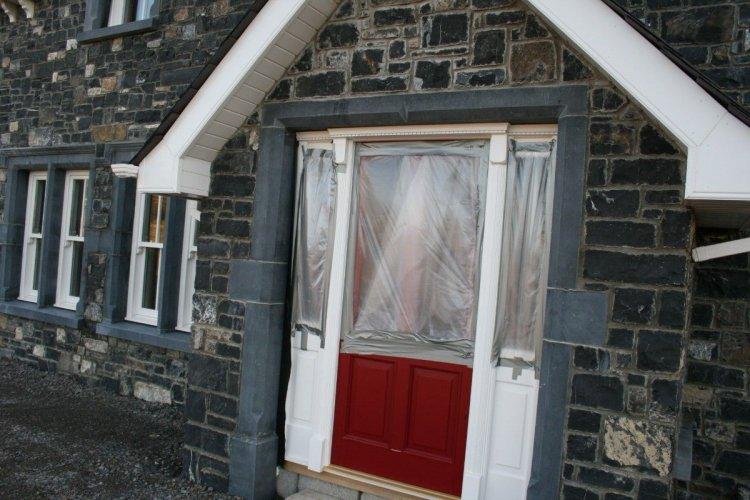 Blue Limestone Door Surround & Windows