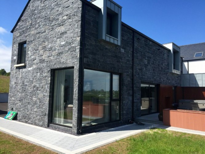 New Build featuring Blue Limestone Stoneer - 30mm natural stone cladding
