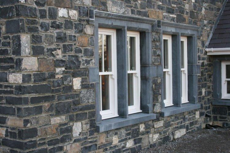 Blue Limestone Window Surrounds