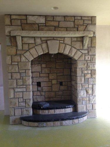 Bespoke Black Limestone Hearth