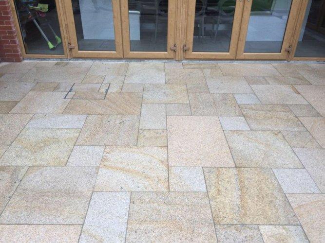 Gold Granite Patio Pack - Photo Credit: DWK Groundworks