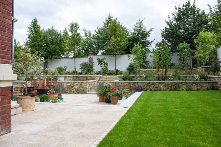 Gold Granite Paving 600 x 600 By Tully Landscapes