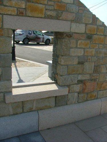 Gold Granite Lintel & Sill  - Bush Hammered Finish