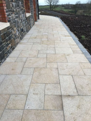 Gold Granite Paving - 4 Mix Size Patio Pack