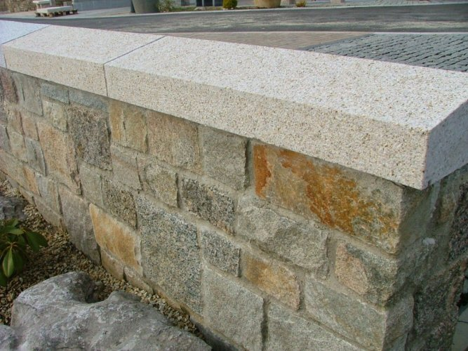 Gold Granite Wall Capping - Apex