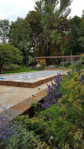 Donegal Quartzite Wall Capping - Photo Credit: Julie Toll Landscape Garden Design