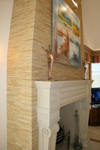 Gold Donegal Quartzite Fireplace  - Bespoke
