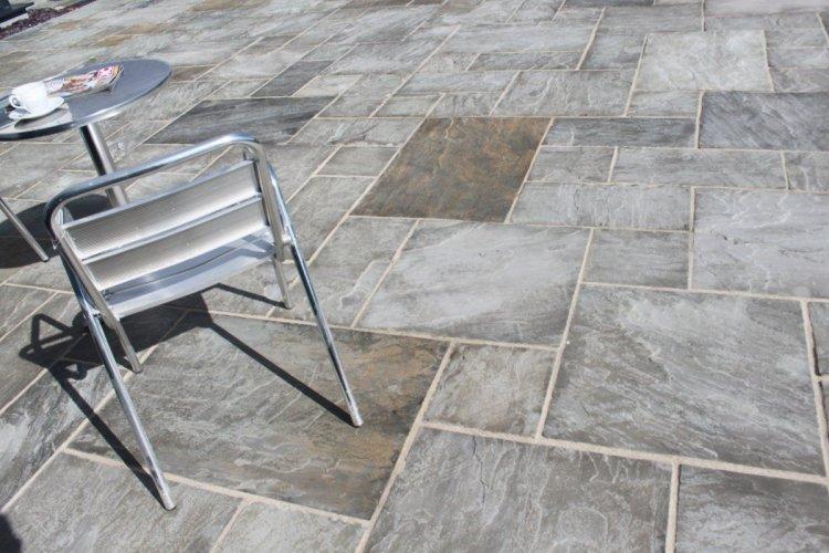 Grey Sandstone Paving - Patio Pack