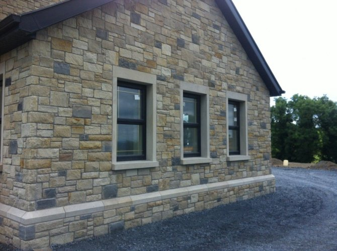 Blue Grey Sandstone & Mountcharles Sandstone Walling Stone