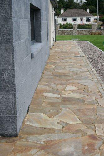 Blue Limestone Cladding - Flamed Finish