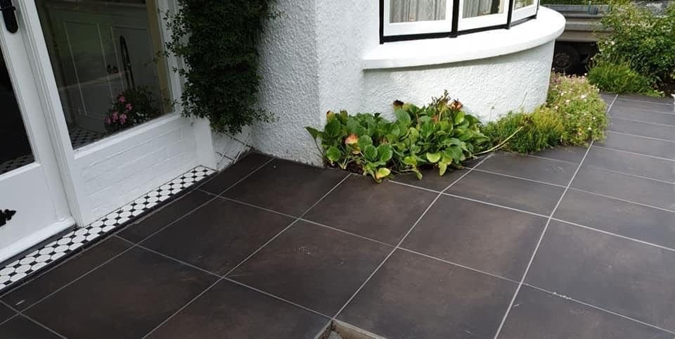 Land Brown Porcelain Tiles; 600 x 600 x 20mm By TK Landscaping Services