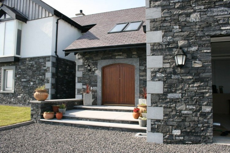 Blue Limestone Door Surround, Quoins & Capping