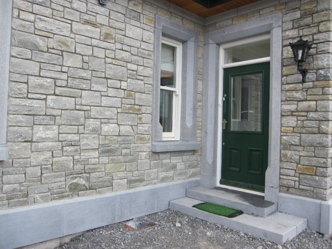 Blue Limestone Door Surround, Window Surround, Step & Plinth