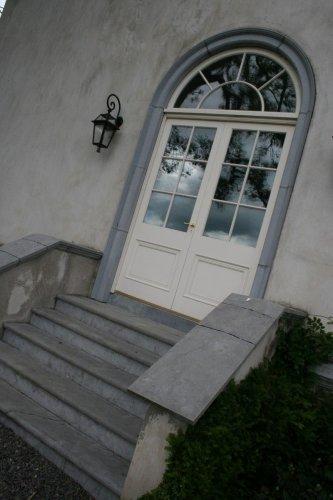 Blue Limestone Door Surround