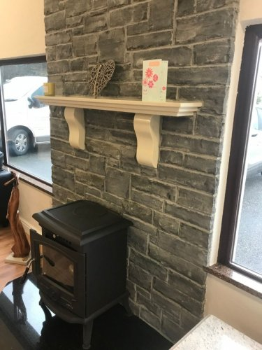 Liscannor Slate Fireplace - Stoneer Cladding