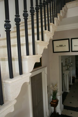 Limestone Cantilevered staircase