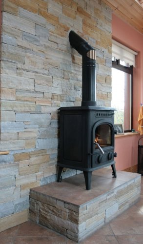 Gold & Silver Donegal Quartzite Fireplace - Stoneer Cladding