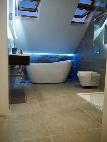 Moov Grey Porcelain - Floor Tiles : 1200 x 600 x 10mm; Wall Tiles 1200 x 200 x 10mm