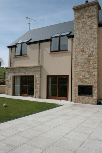 BBQ area completed using mountcharles sandstone stoneer