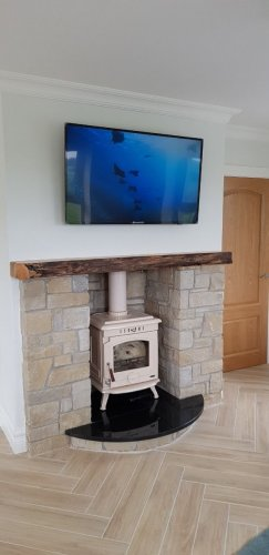 Internal Fireplace - Mountcharles Sandstone Cladding