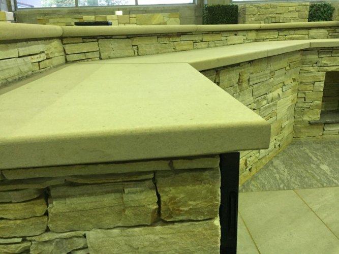 Mountcharles Sandstone Counter - External BBQ Area