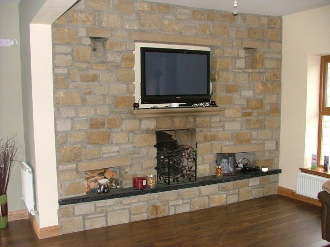 Sandstone Cladding Fireplace - Mountcharles Sandstone
