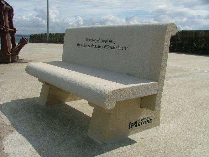 Mountcharles Sandstone Bench - Engraved