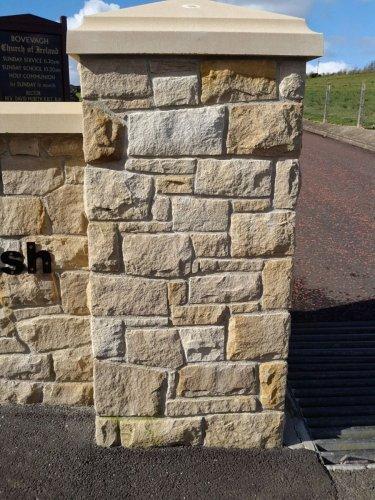 Bespoke Sandstone Pillar Cap - Apex Style