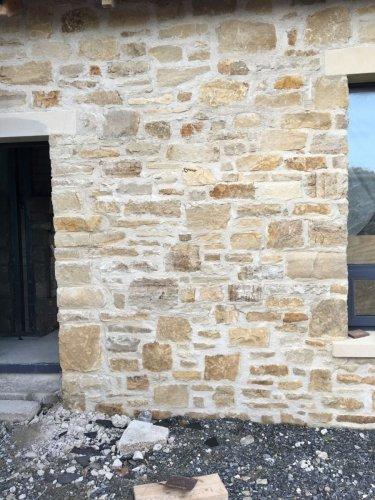 Mountcharles Sandstone Random Rubble Walling