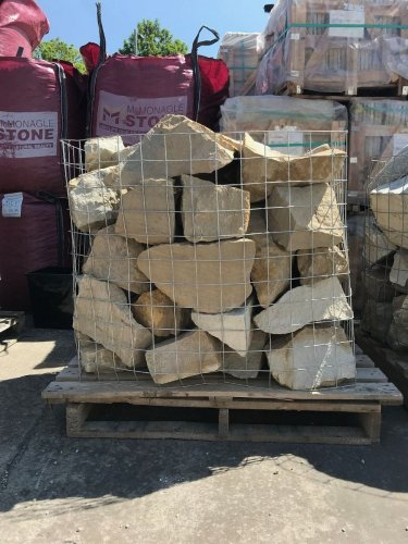 Mountcharles Sandstone Rockery; 200 - 500mm Supplied in Cages.
