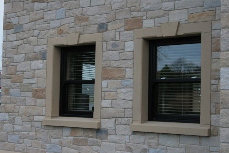 Mixed Sandstone Cladding - Mountcharles Sandstone & Blue Centre Sandstone