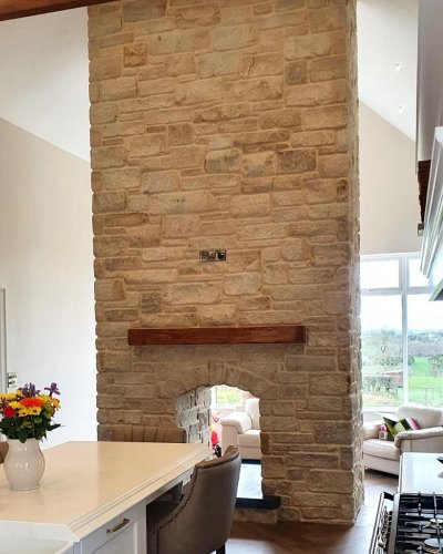 Mountcharles Sandstone - Tumbled by Darbell Masonry & Construction