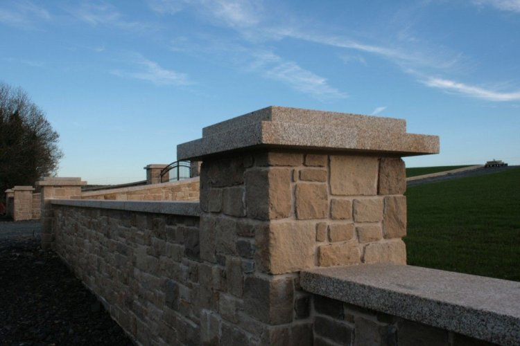Gold Granite Wall Capping