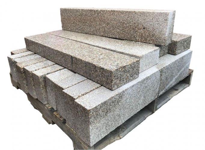 Gold Granite Kerbs - Bush Hammered Pallet