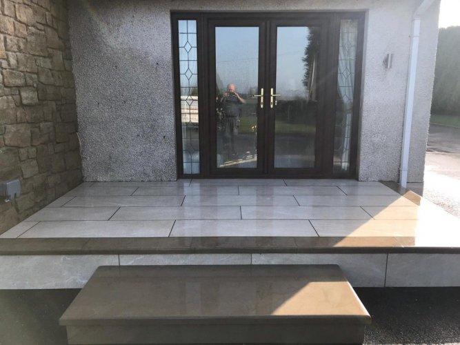 Sandstone Beige Porcelain Tiles; 1200 x 400 x 20mm By Dorans Paving