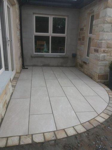 Sandstone Beige Porcelain Tiles; 1200 x 400 x 20mm