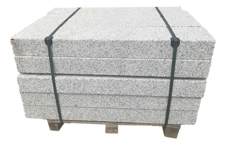 Silver Granite Kerbs Bush Hammered Finish - Pallet