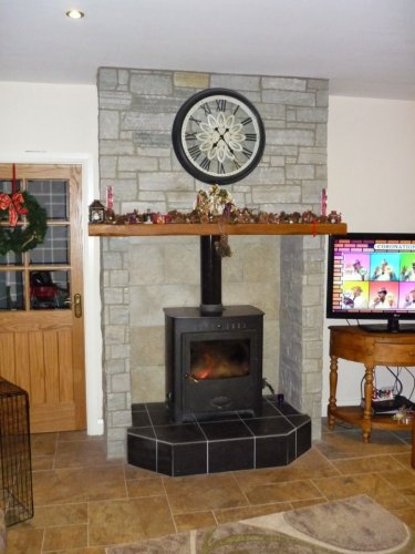 Silver Donegal Quartzite Fireplace