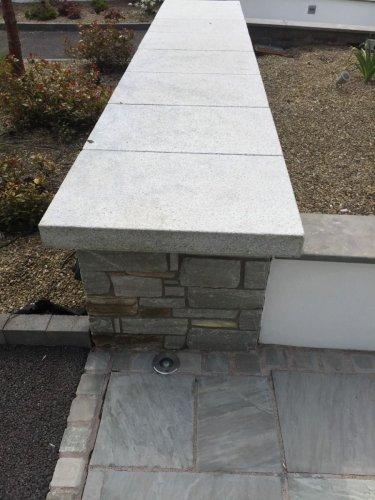 Silver Granite Wall Capping
