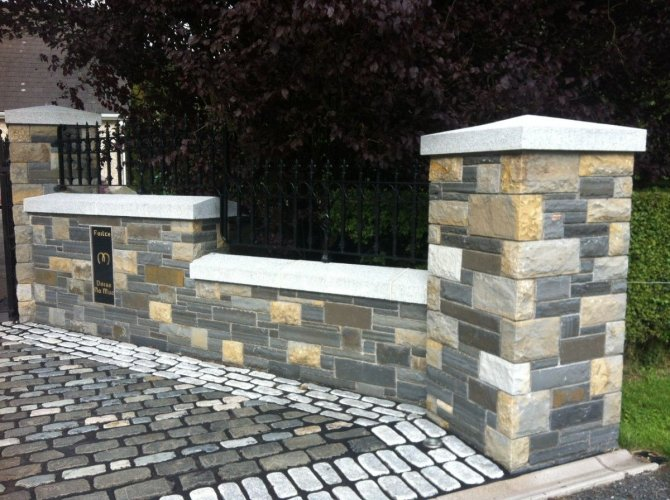 Silver Granite Pillar Cap - Apex Style