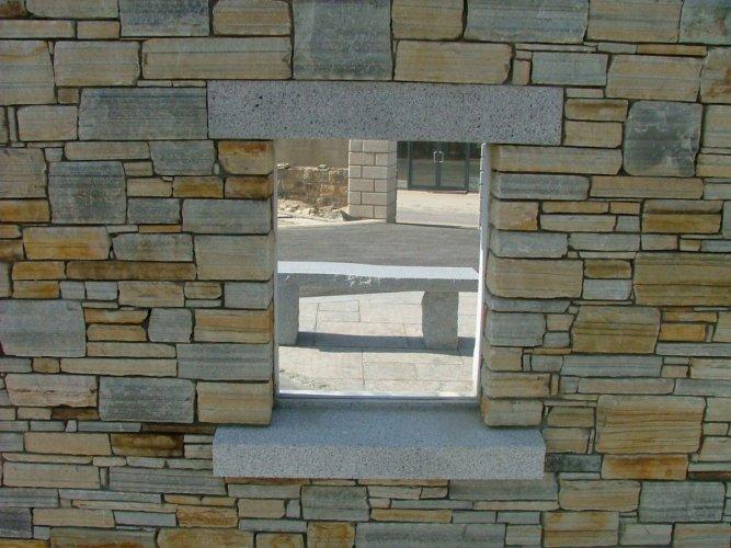 Silver Granite Lintel & Sills - Bush Hammered Finish
