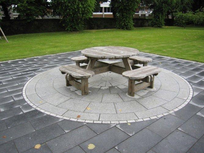 Silver Granite Circle