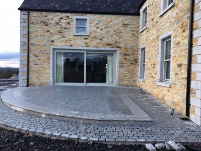 Silver Granite Steps