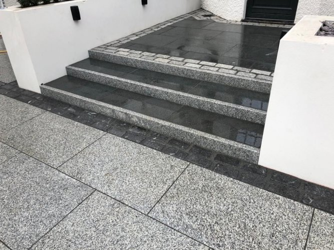 Silver Granite Pin Kerbs; By New Landscapes NI