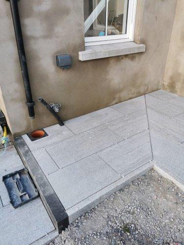 Silver Granite Pin Kerb by C&D Group NI
